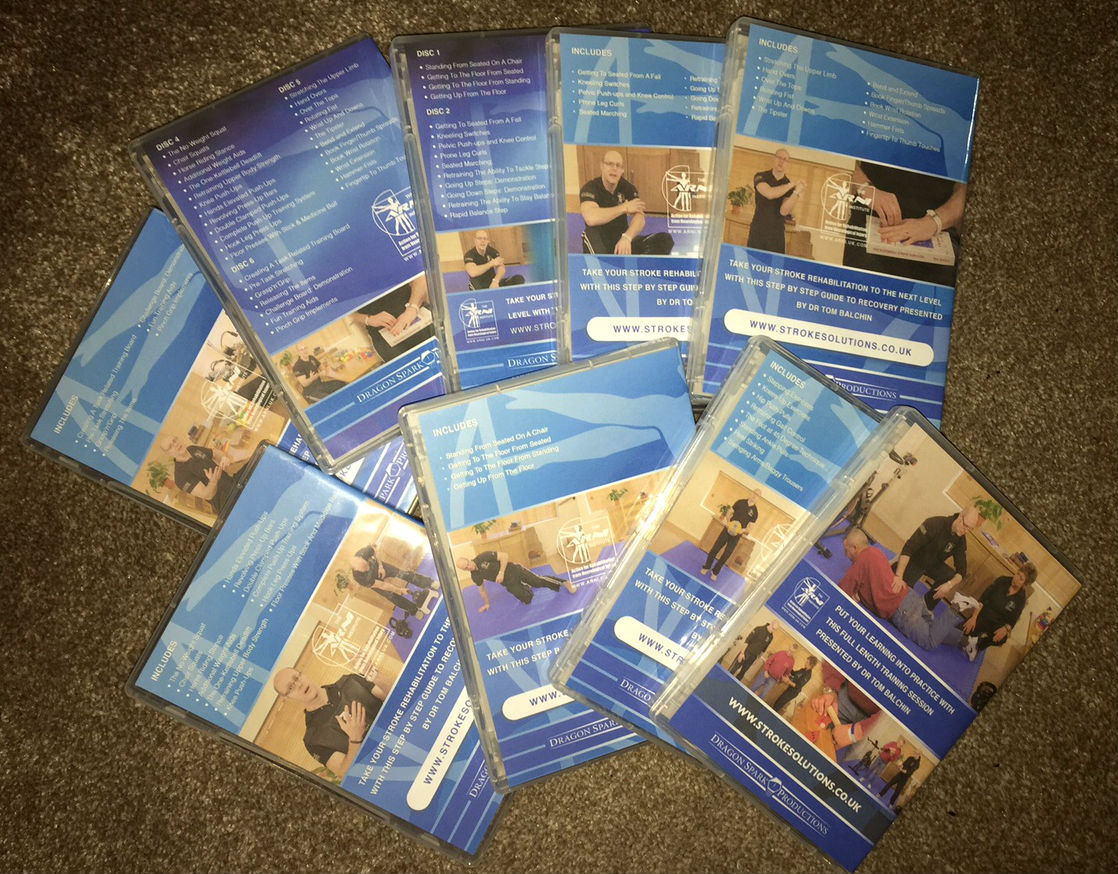 dvds back - A GIFT FOR YOU TO MARK 20 YEARS OF ARNI! CLAIM £50 OFF SET OF 7 STROKE REHAB DVDS! - Stroke Exercise Training - online courses for therapists